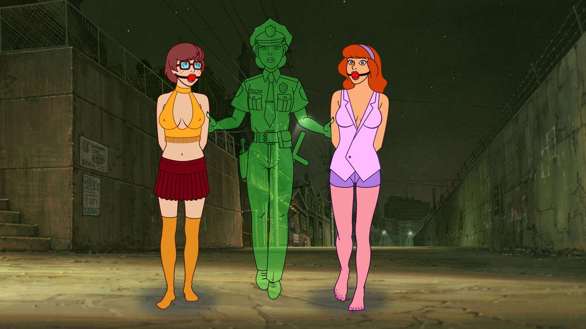 Daphne And Velma Arrested By The Ghost Cop by VictorZulu