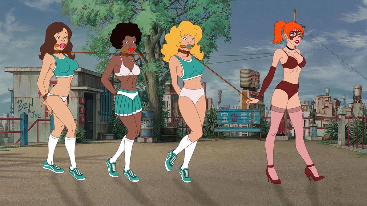 Teen Angels in Troubles Cheerleaders Version B by VictorZulu