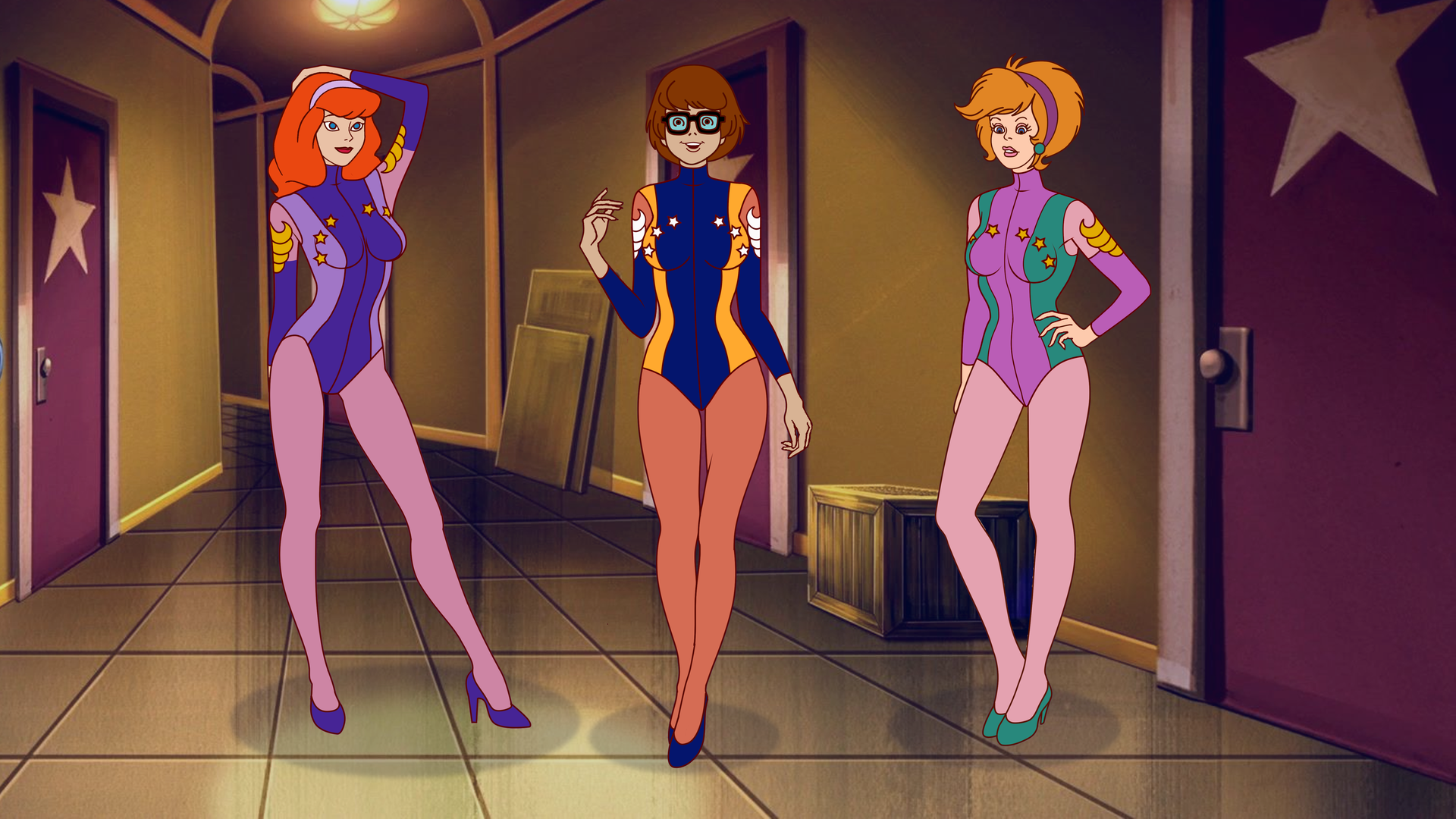Daphne Velma and Googie Pinup Posing by VictorZulu
