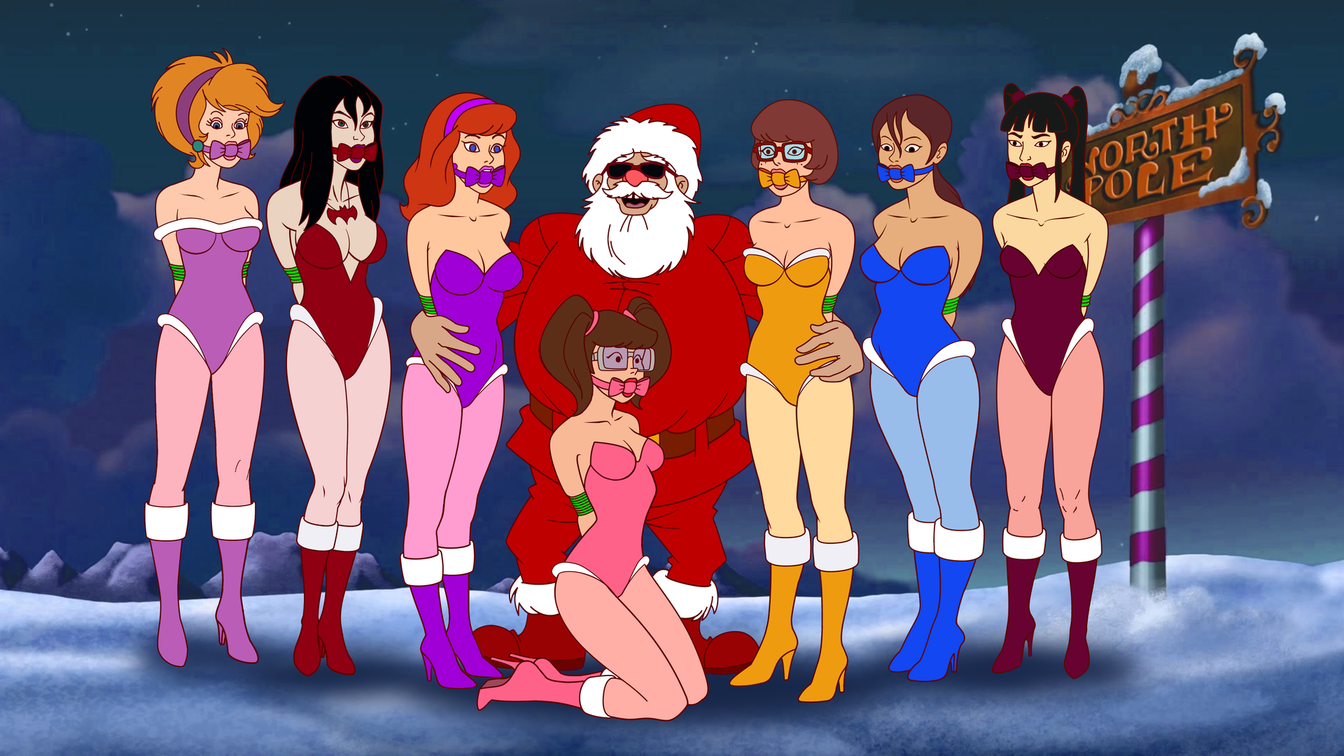 Scooby-Doo GiftGirls from Bad Santa by VictorZulu
