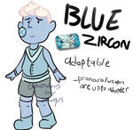 Cheap Steven Universe Gem Adopt-Blue Zircon CLOSED
