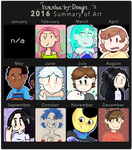 my 2016 Summary of Art! by Tremendous-By-Design