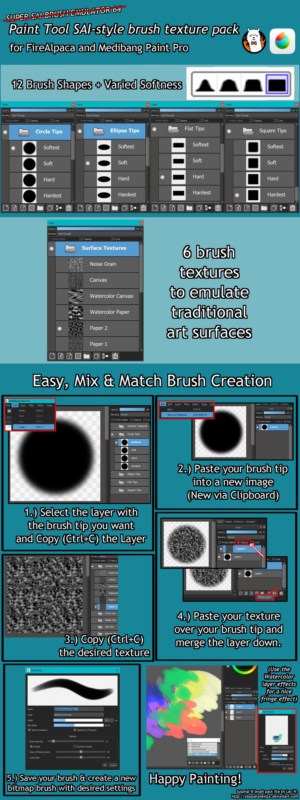 Paint Tool Sai Brush Shapes Download Best Free Paint Tool SAI