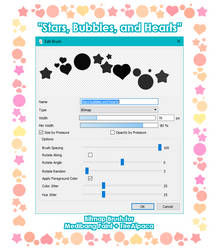 Stars, Bubbles, and Hearts brush by AtsusaKaneytza