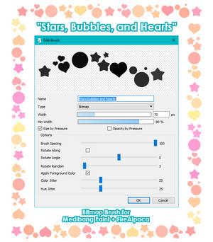 Stars, Bubbles, and Hearts brush