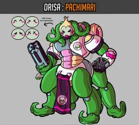 Overwatch Skin Concept - Pachimari Orisa by AtsusaKaneytza