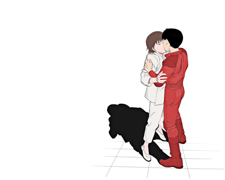Kei And Kaneda Kiss By Bonesma On Deviantart
