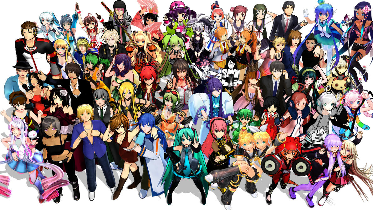 [MMD] All VOCALOIDs Group Pic by iMACobra