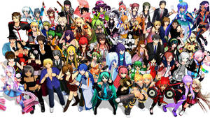 [MMD] All VOCALOIDs Group Pic