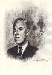 H.P. Lovecraft commission 2 by Sombot