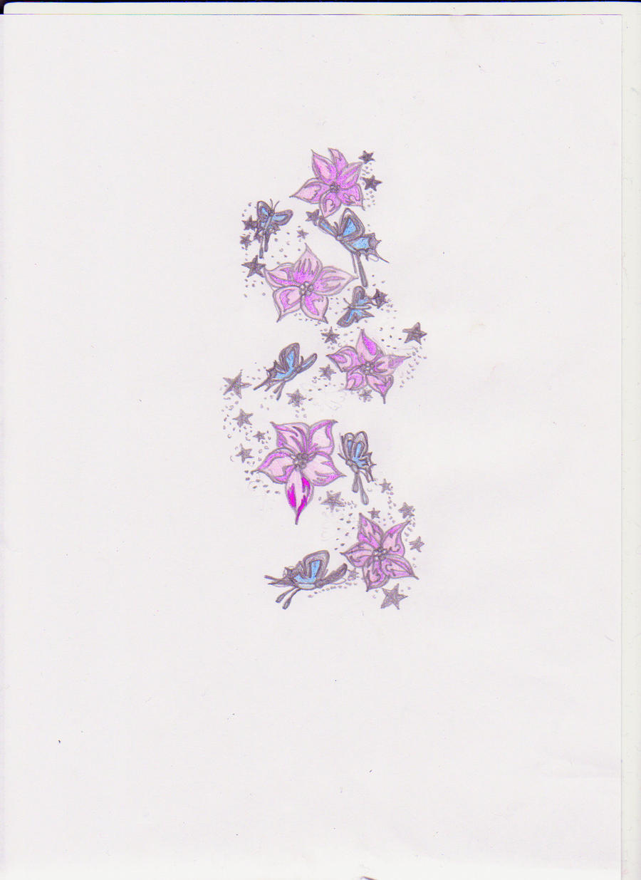 flowers butterflies and stars by mini s on deviantart