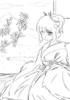 Kimono Lineart by sigroneta