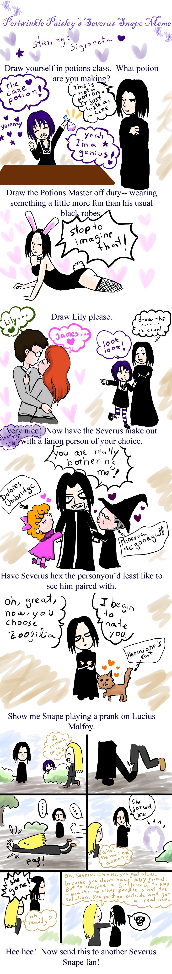 Severus Snape meme by sigroneta