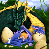 Dragon eggs by sigroneta