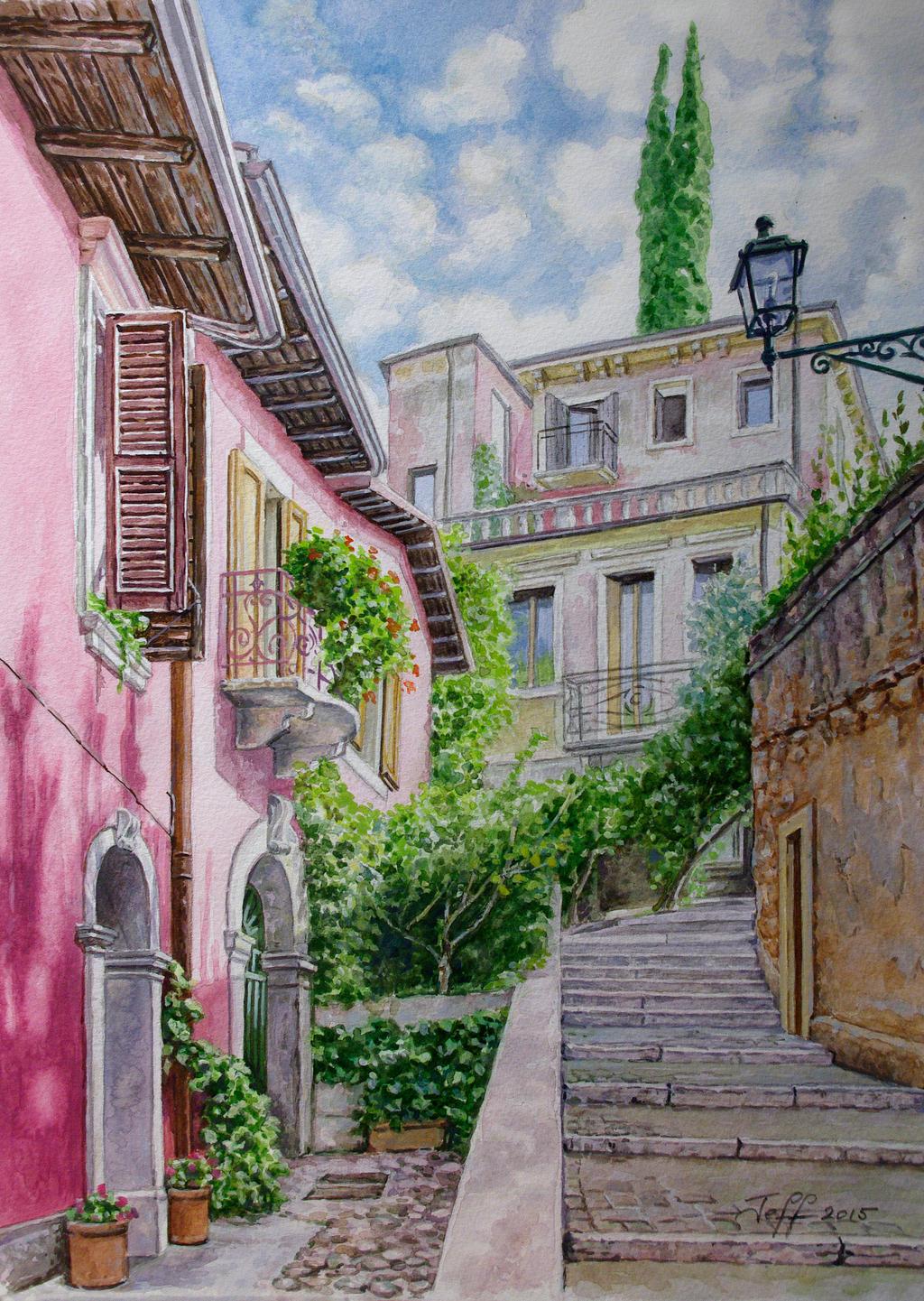 Stairway to Castel San Pietro, Verona 2016