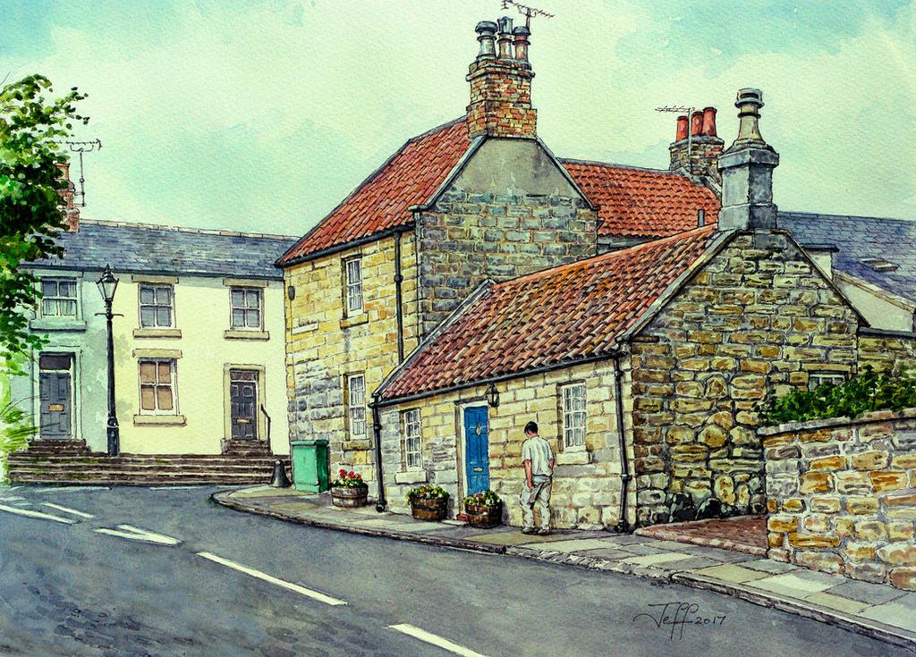 Castle Terrace, Warkworth, Northumberland by jeffsmith1955
