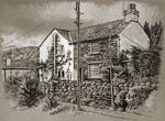 Tonal study of a cottage in Thornthwaite, Cumbria