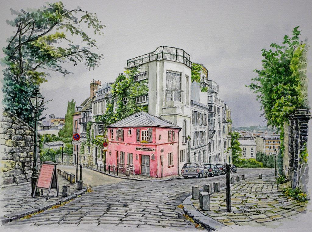 La Maison Rose, Montmartre, Paris by jeffsmith1955