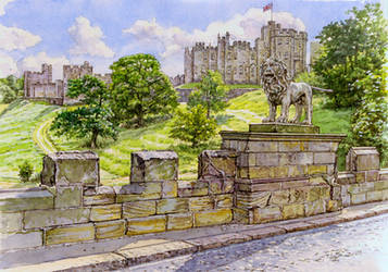 The Lion Bridge, Alnwick by jeffsmith1955