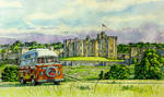 VW camper van at Alnwick Castle, Northumberland by jeffsmith1955