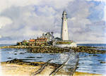 Incoming tide at St Mary's Island, Northumberland by jeffsmith1955