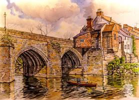 Elvet Bridge, Durham by jeffsmith1955