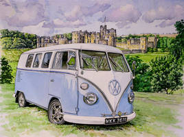 VW Split Screen Campervan at Alnwick Castle by jeffsmith1955
