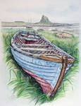 Old fishing boat on Holy Island, Northumberland