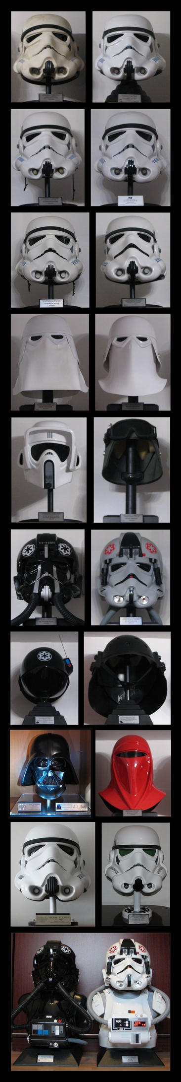 Star Wars Imperial helmets by jkno4u