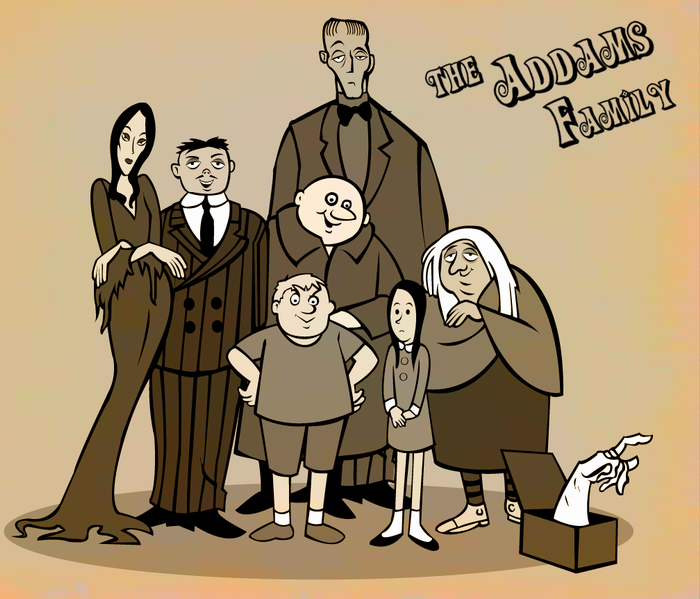 The addams family cartoon 1973