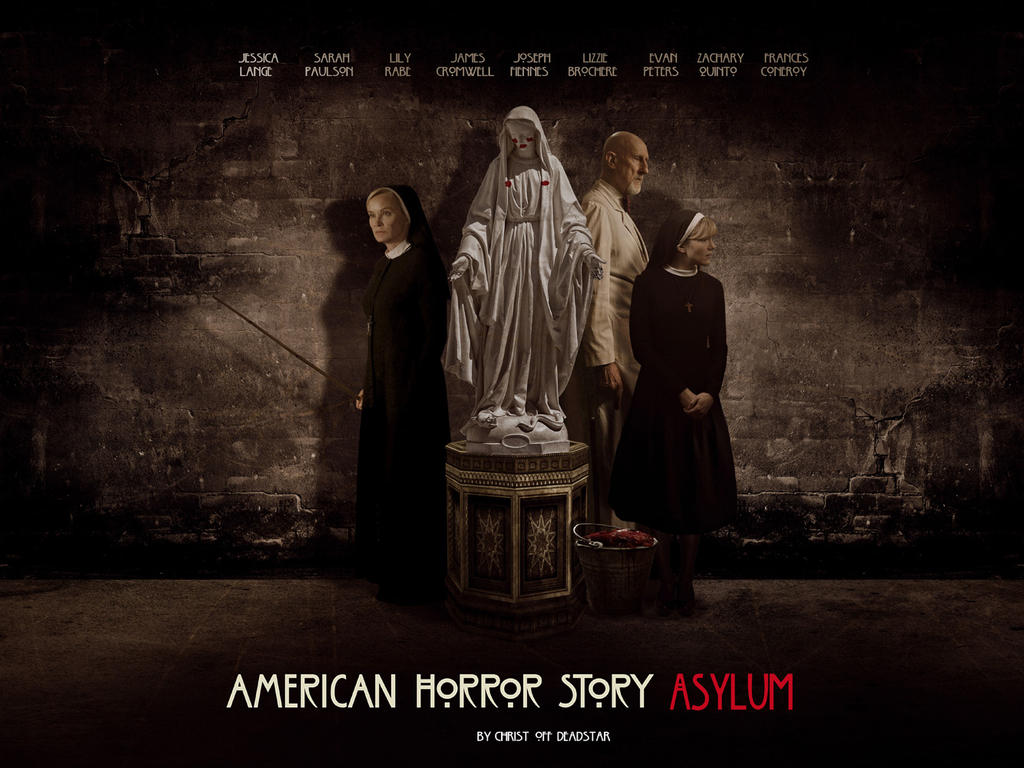ahs asylum wallpaperchrist-off on deviantart