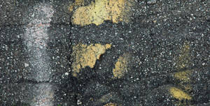 Cracked Pavement with Paint by Delia-Stock
