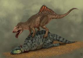 concavenator vs iguanodon by JELSIN