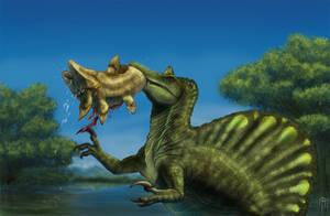 Spinosaurus fishing by JELSIN