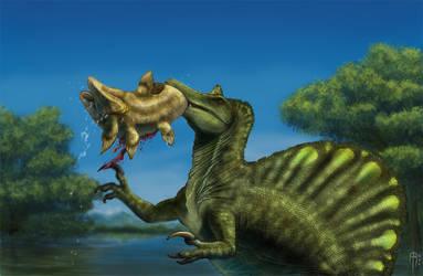 Spinosaurus fishing