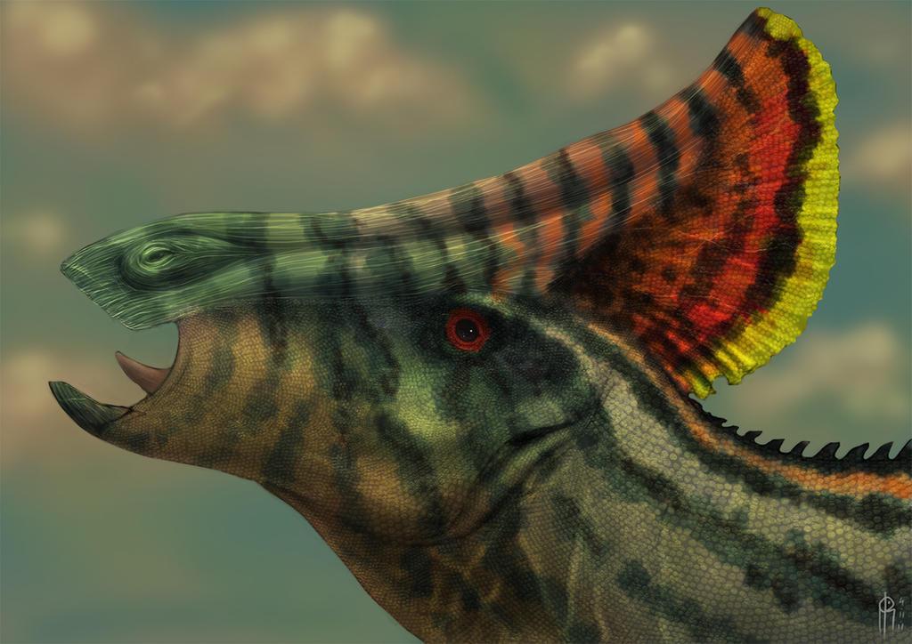 Awesome Paleoart  Olorotitan_bust_by_jelsin-d4f061x