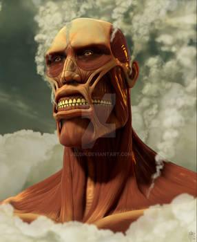 Colossal titan bust