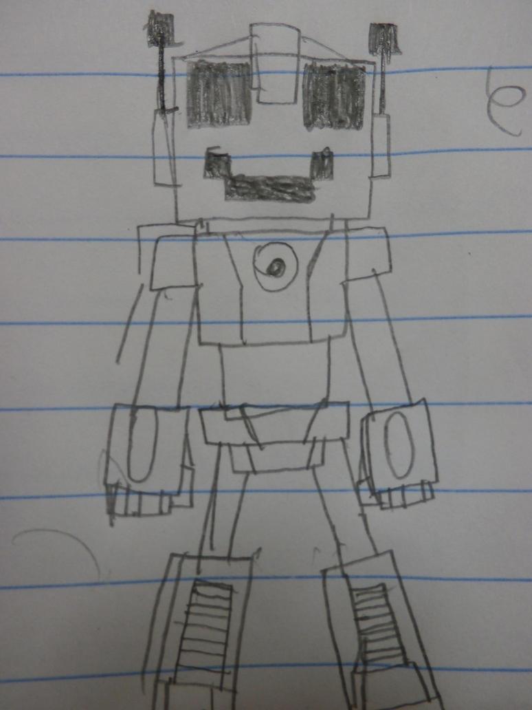 Happy Li'l robot! by firebyte27