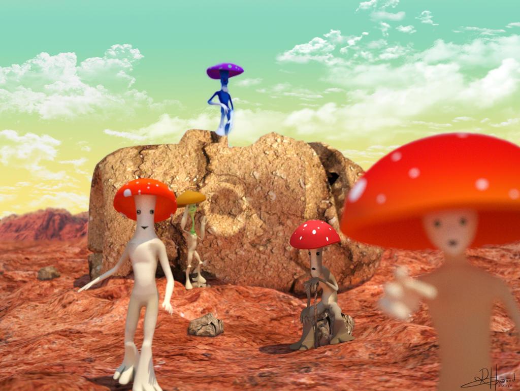 A Mushroom Tale by MegalithArtMalta