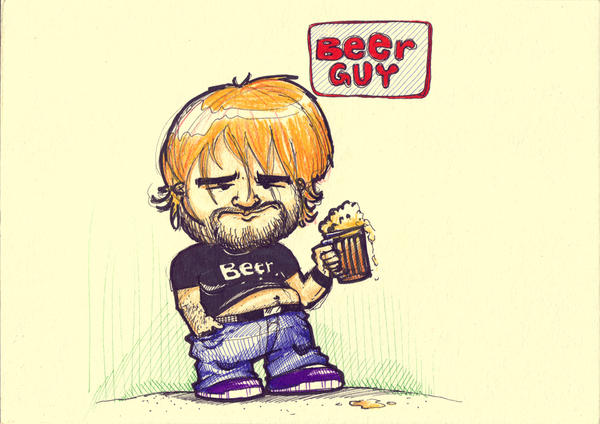 beer guy by RusRed