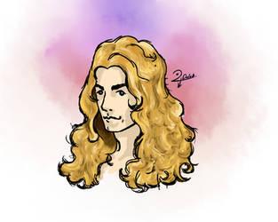Robert Plant sketchy portrait by DylanDOX67
