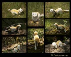 Plushie: Lin the Ferret by Avanii