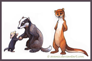 Watercolour Animals by Avanii