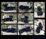 Plushie: Black Kitten Commission