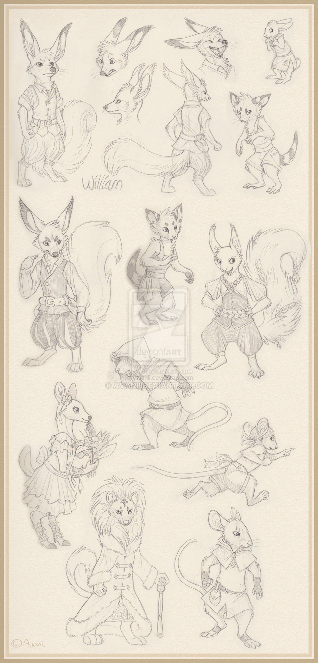 Sketches: Anthros by Avanii