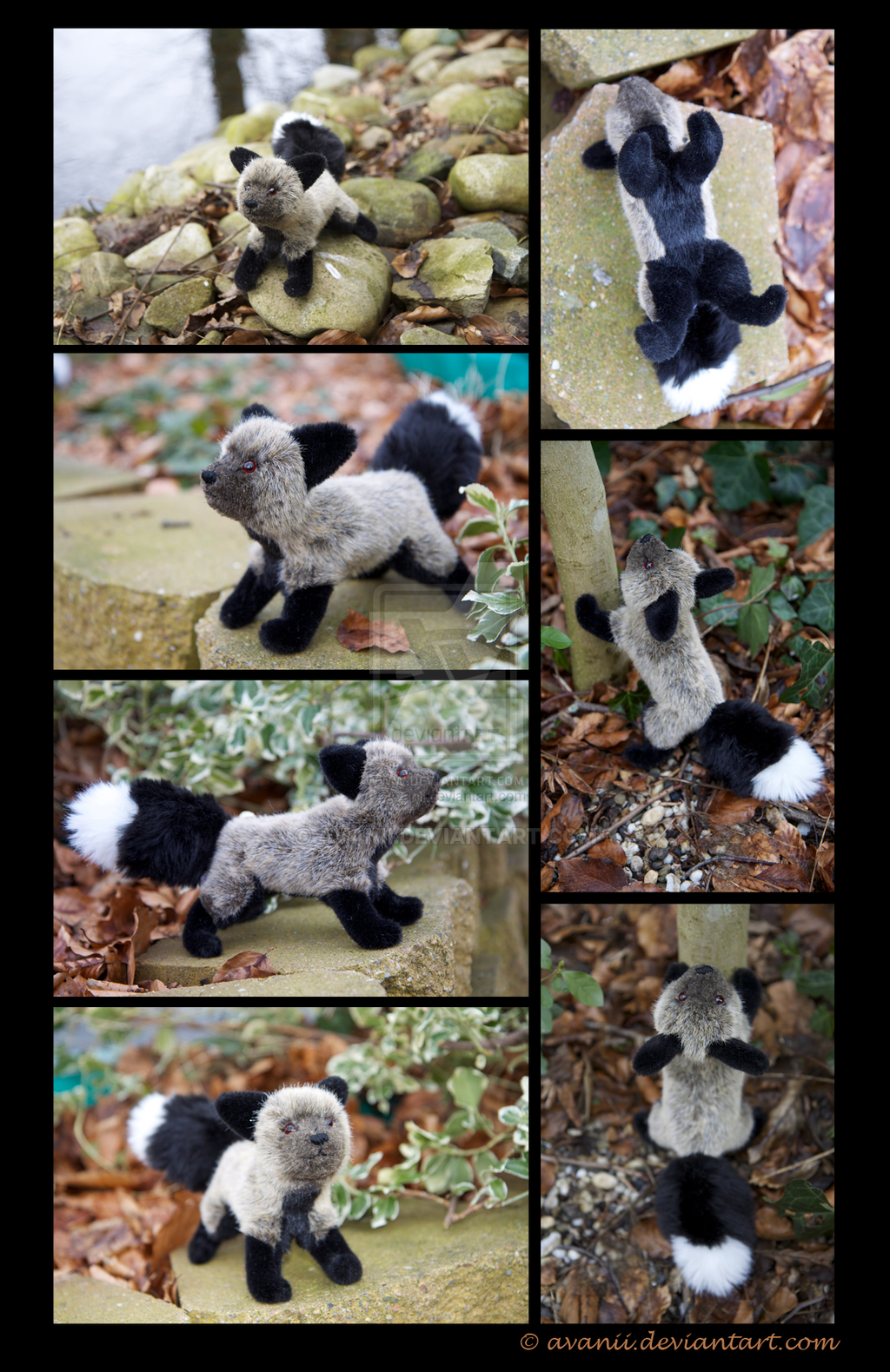Plushie: Sharla the Silver fox by Avanii