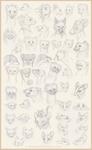 Sketchdump: Animal OC Portraits