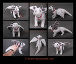 Plushie: Henk the Silver Dragon