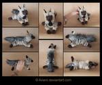 Plushie Commission: Striped Hyena