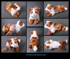 Plushie Commission: Poonie the Dog by Avanii